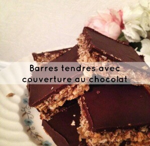 Barres tendres avec couverture au chocolat